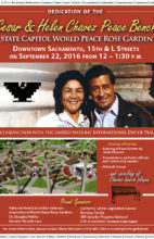 9/22/16 – Cesar & Helen Chavez  Peace Bench Dedication