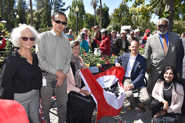 The Cesar & Helen Chavez Peace Bench Dedication in conjunction with the International Day of Peace was a great success. — with Assemblymember Kevin McCarty.