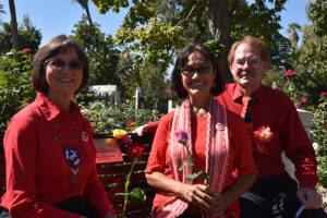 The Cesar & Helen Chavez Peace Bench Dedication in conjunction with the International Day of Peace was a great success. — with Sylvia Villalobos, Diana Martinez and Tj Theroseman David.