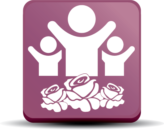 Donation Button with roses