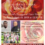Flyer for 2rd Anniversary Celebration of the University Park World Peace Rose Gardens