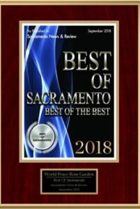 Best of Sacramento Award World Peace Rose Gardens