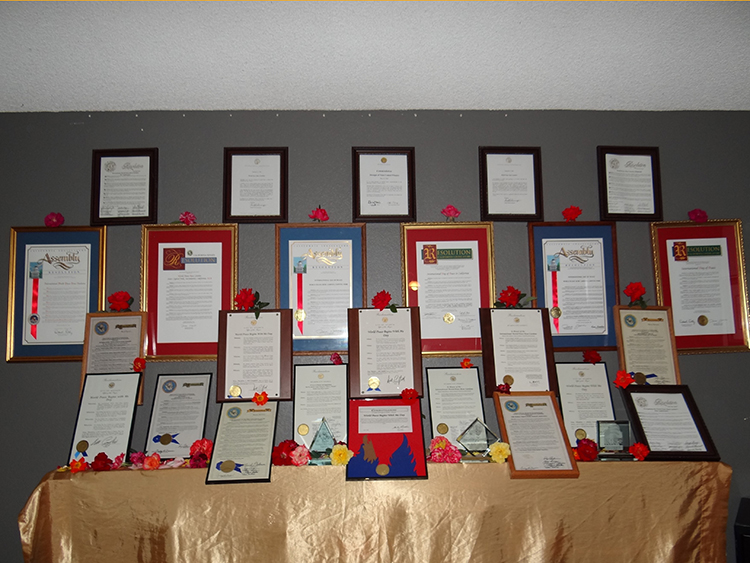 wall of awards 2