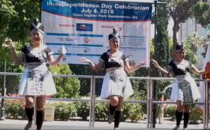 Hmong Dancer Perform 4th of July State Capitol