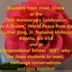 Jinan, China Kids at MLK, Atlanta, GA