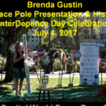 Peace Pole Presentation 4th of July State Capitol