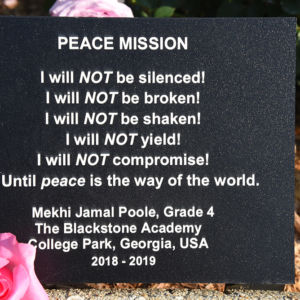 Peace Mission Plaque