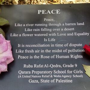 Peace plaque